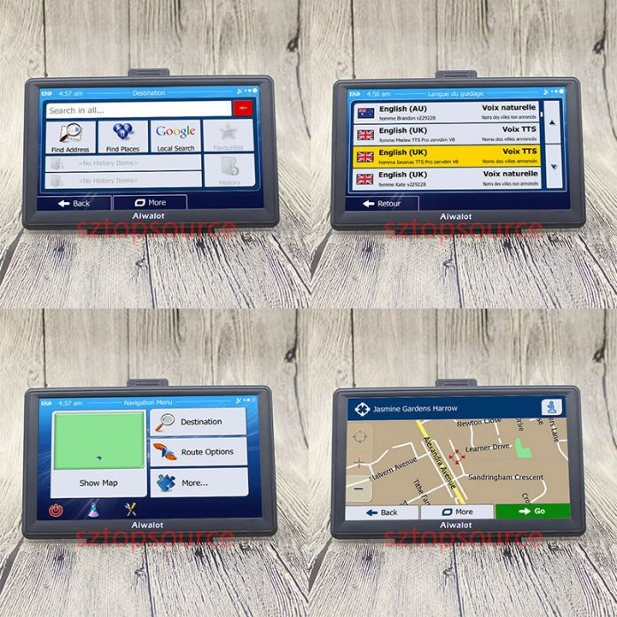 "7 ""Испания тележки Автомобиля автомобильный GPS Навигации навигатор 800 МГц FM DDR3 256 М 8 ГБ CE6.0 навител/испанский великобритания/Европа/США/испанский/Франция"