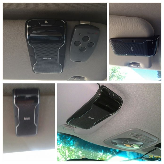 Новый Беспроводной Черный Bluetooth Громкой Связи Автомобильный Комплект Громкой Связи Солнцезащитный Козырек Клип 10 м Расстояние Для iPhone Смартфонов с Автомобильное Зарядное Устройство