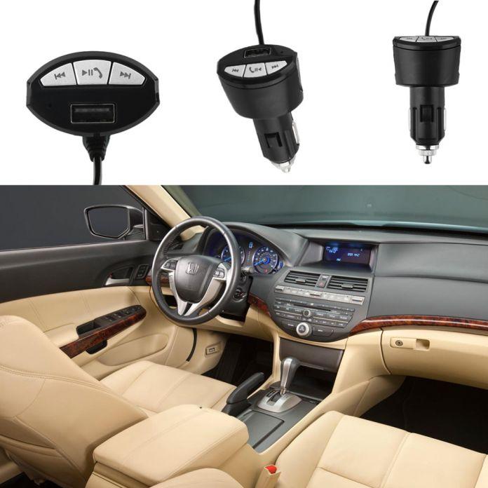 Для A2DP Bluetooth для Беспроводной Автомобильная Гарнитура Стерео Аудио Музыка Приемник Адаптер 3.5 мм AUX АВТО с USB Зарядное Устройство От Прикуривателя