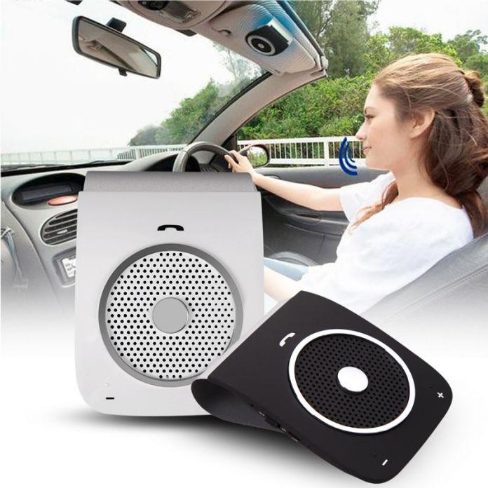 Беспроводной USB автомобильное зарядное устройство с bluetooth handfree голосовой набор Sunvis USB автомобильное зарядное устройство комплекты аудио Спикер Музыка для мобильных телефонов