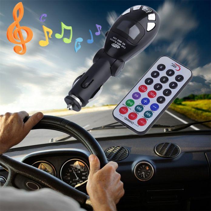 USB MMC Слот Для Карты Автомобильный MP3 Плеер Радио Музыка Fm-передатчик Модулятор с Пультом Дистанционного Управления Горячий Продавать