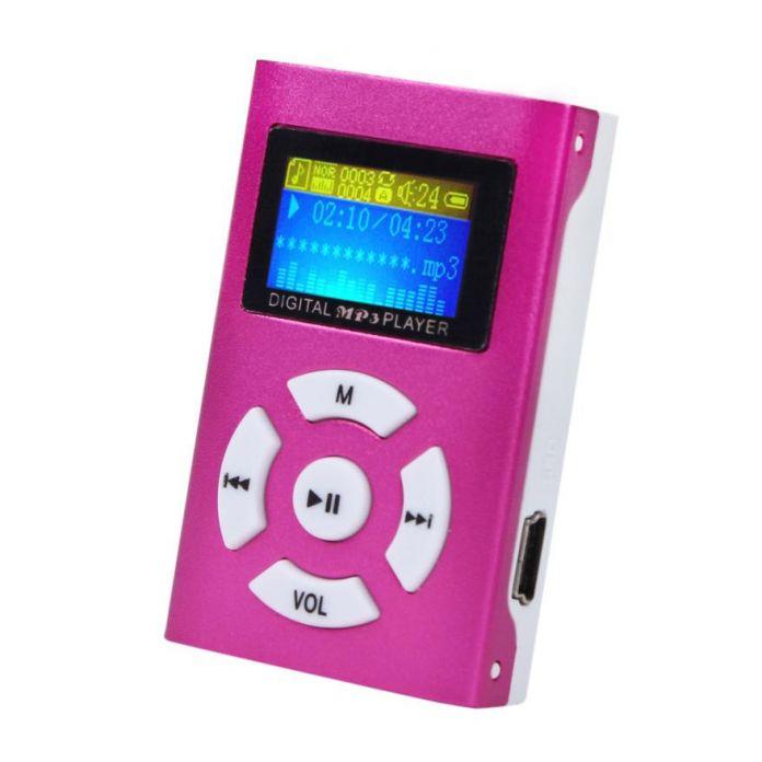 Хорошие Продажи USB Мини Mp3-плеер с ЖК-Экран Поддержка 32 ГБ Micro SD TF Слот Для Карты Цифровой музыкальный проигрыватель mp3 Июня 10