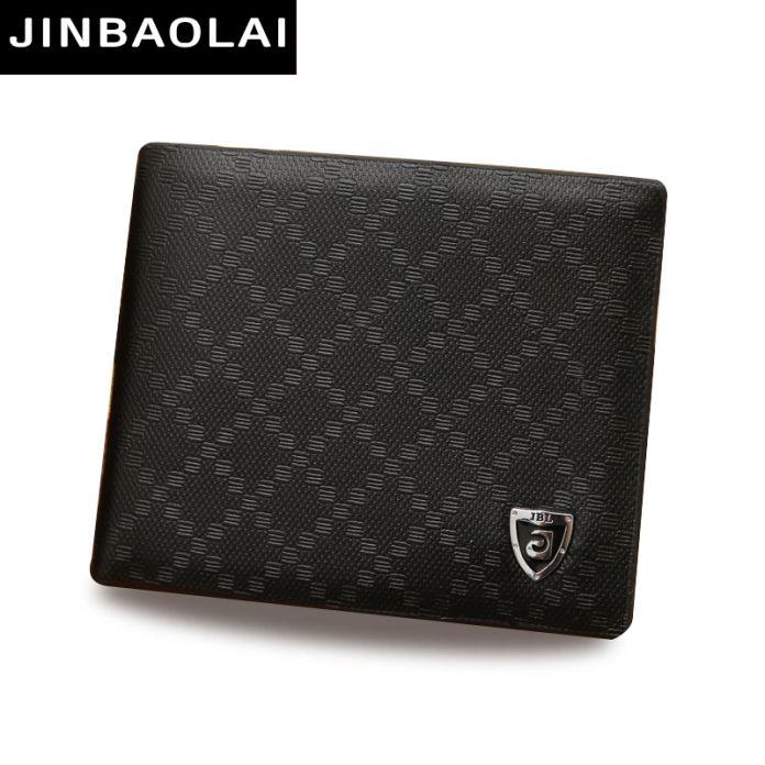 Горячая распродажа кожаный бумажник мужчины JINBAOLAI марка PU кошелек мужской со сменными держателем кредитной карты слота кожа кошельки кошелек портмоне мужское