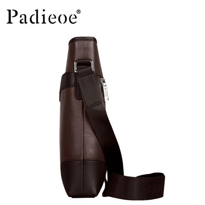 Padieoe Мода старинный кожаный сумка подлинная настоящее корова кожа мужская сумки высокого качества человек сумка три цвета
