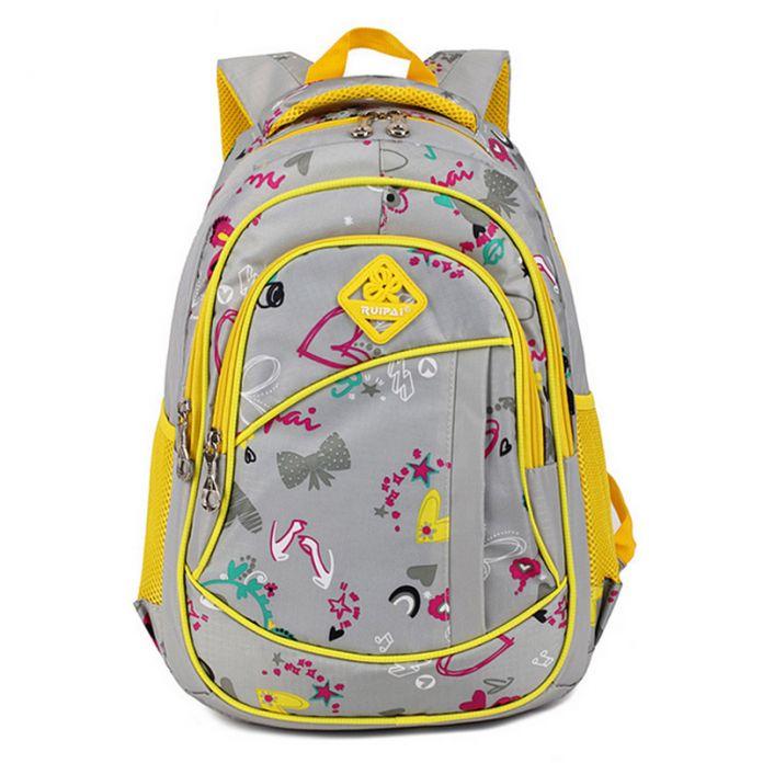 Милые девушки цветочные печать начальная школа мешок рюкзак модный детей дети рюкзак книги мешок студенческие ранец
