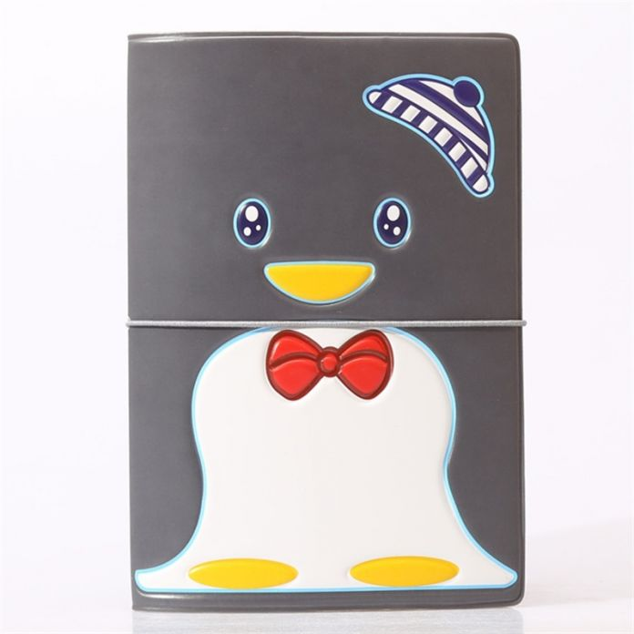 Черный Пингвин Владельцем Паспорта Удостоверение личности 3D Дизайн ИСКУССТВЕННАЯ Кожа Визитная Карточка Мешок Обложка Паспорта для Путешествий 14*9.6 СМ