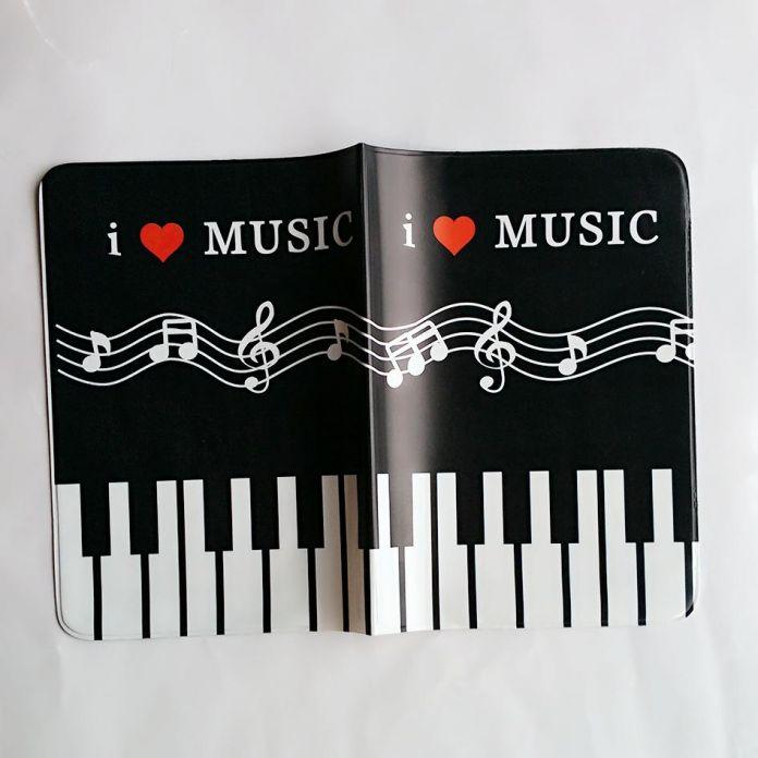 Клавиши пианино Случае Обложка для Паспорта мужчин, 3D Дизайн ПУ и ПВХ Кожа Заграничного Паспорта Держатель, 14*9.6 см для путешествий