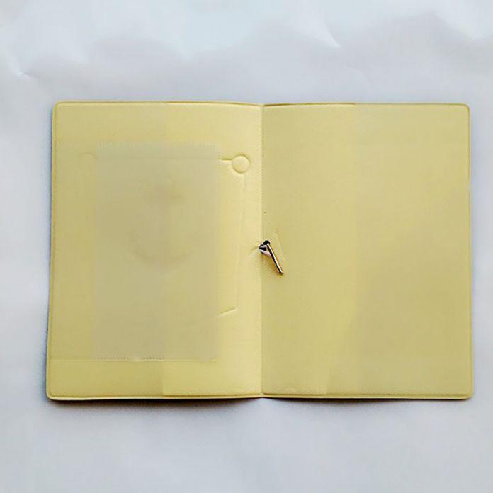 Глубоко буле темно-якорь владельцем паспорта удостоверение личности 3D дизайн пвх кожа визитная карточка сумка обложка для паспорта 14 * 9.6 см