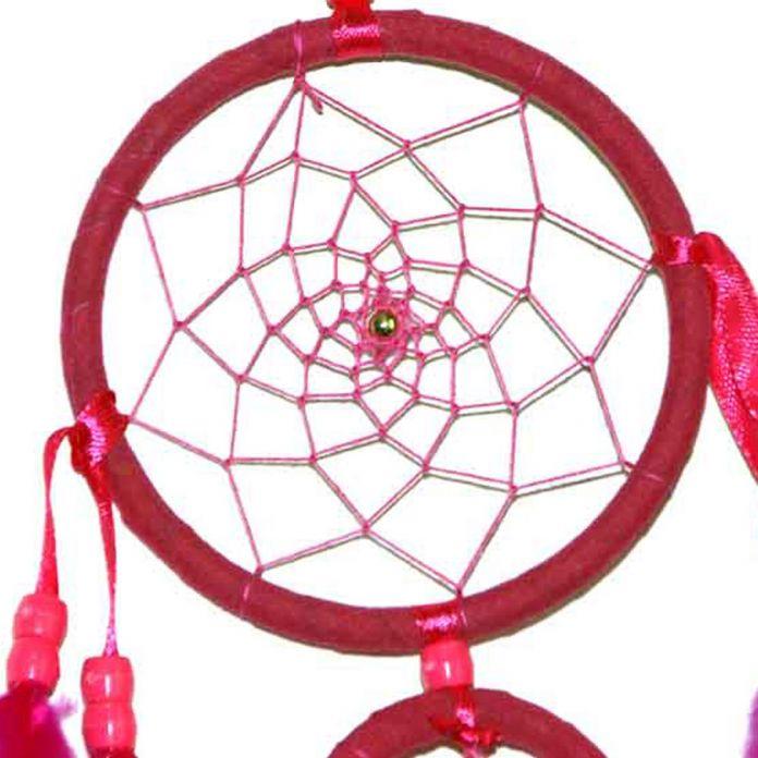 Новое Прибытие Розовый Dream Catcher 2 Кольца с Перья Висит Украшение Орнамент Длина 45 см Стены Дома Украшения Автомобиля укладки