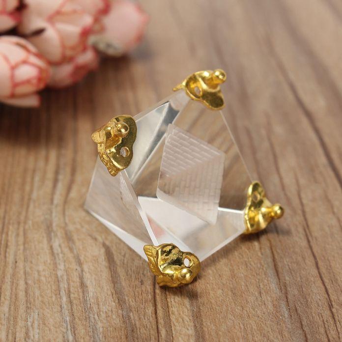 Высокое Качество Энергии Исцеления Небольшой Фэн-Шуй Египет Египетский Crystal Clear Пирамида Украшения Домашнего Декора Гостиной Украшения