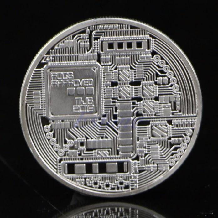 Посеребренная Bitcoin БТД Монета Коллекционные Монеты Коллекция Произведений Искусства Подарок Физической A45165