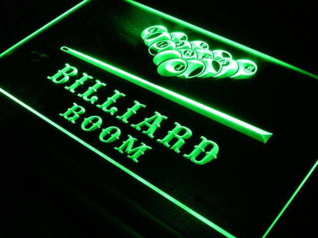 S082 Бильярд Зал Бар Пивной LED Neon Light Знак На/Выключения 7 Цветов