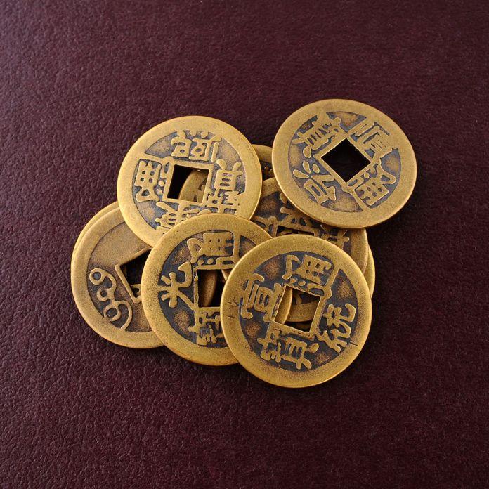 10x Фэн-Шуй Лаки Китайский Фортуна Монет Восточный Император Цин Деньги Цзин Набор Горячие Монеты бесплатная доставка монет набор