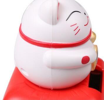 Высокое Качество ABS Солнечной Чип Солнечных Батареях Maneki Neko Приветствуя Lucky Призыва Фортуна Cat Главная Отель Ресторан Декор Ремесло