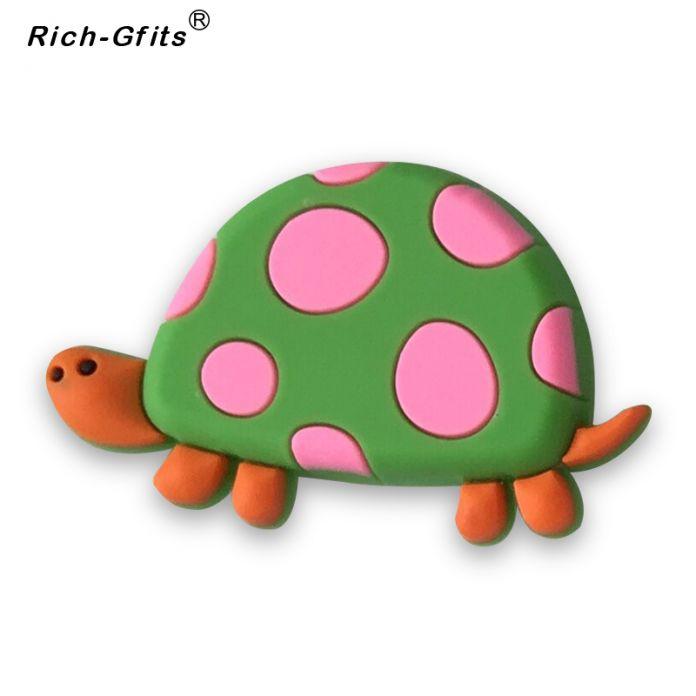 Акции, Рекламные Подарки 3D мягкий rubbe Мультфильм черепаха магниты на холодильник декоративные Наклейки (RC-R-009)