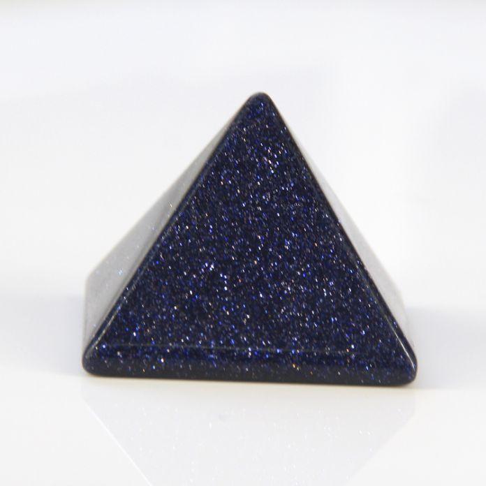 2015 30 мм Натуральный Голубой голдстоун кварцевый пирамида Чакра Исцеление Рейки Бесплатная доставка