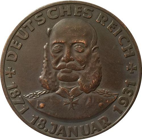1931 Немецкий Штаты монеты СКОПИРУЙТЕ БЕСПЛАТНАЯ ДОСТАВКА 36 ММ