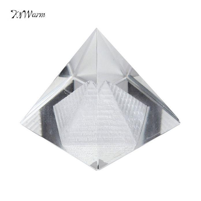 Новый 1 ШТ. Египет Египетский Природный Кристалл Прозрачный Кварцевый Пирамиды Главная Стол Декор Подарок Гостиная Украшения Кристалл Украшение Craft