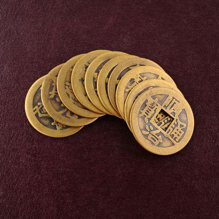 10x Фэн-Шуй Лаки Китайский Фортуна Монет Восточный Император Цин Деньги Цзин Набор Горячие Монеты бесплатно монет