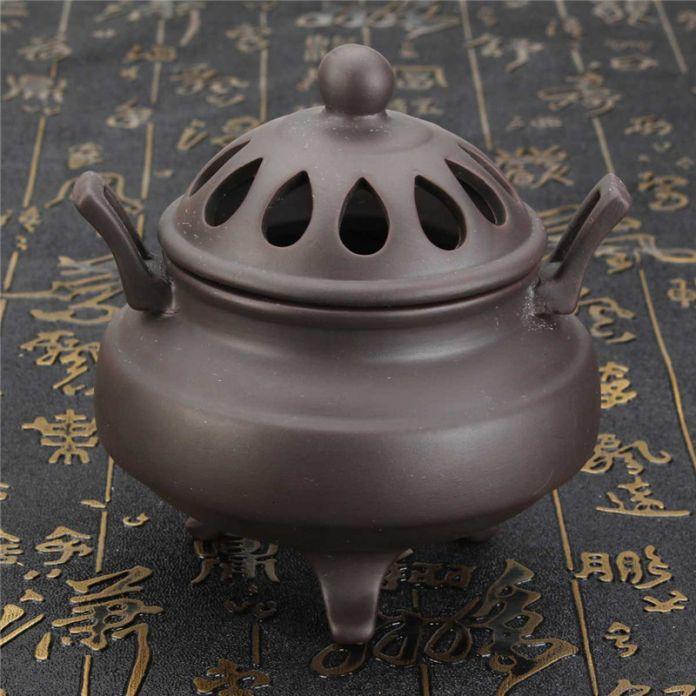 Китайский ретро традиционный штатив фиолетовый клей керамический курильница сандалового дерева печь будда кадило внутренних дел декор