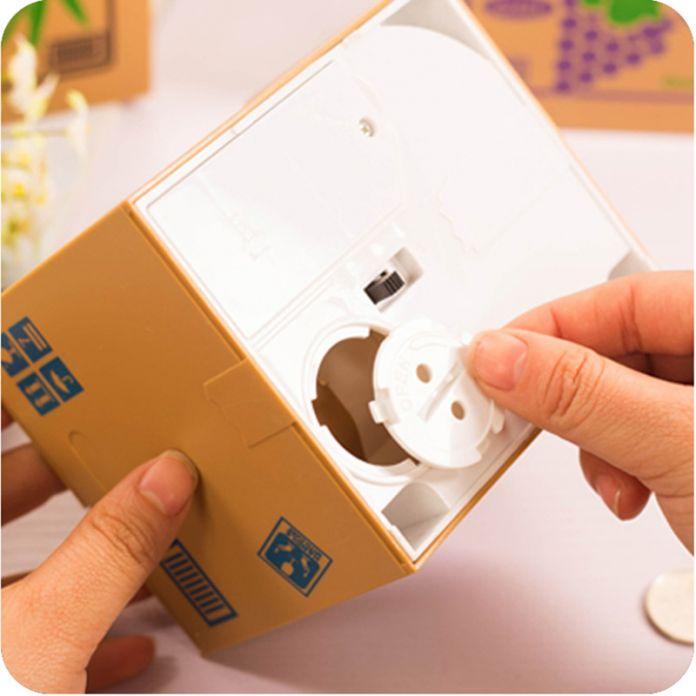 Творческий забавный itazura монет банка panda копилки украсть деньги кошка собака обезьяна мышь копилка для Детей Детский Подарок