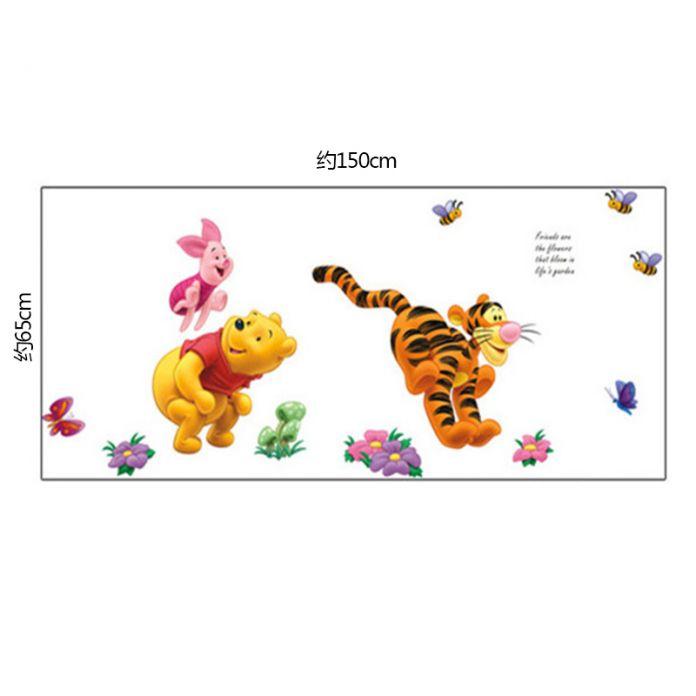 Мультфильм винни Пух Медведь Свинья Тигр Стены стикеры для детей номеров детская Дети наклейки на стены декоративные Обои Плакат