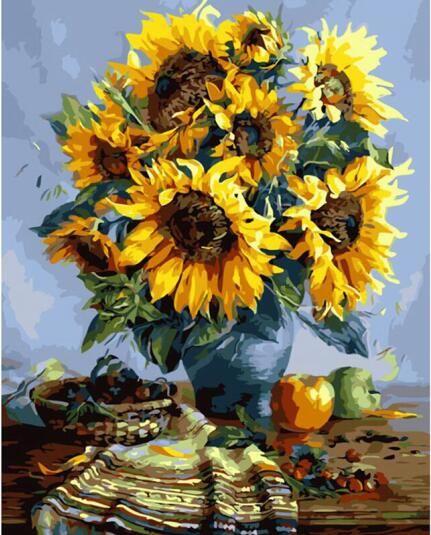 Home decor wall art декоративные цветы картинки для гостиной живопись by numbers diy холст, масло Окраска-Дейзи OP94