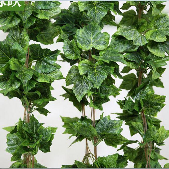 5 шт./лот домашнего декора мода декоративные цветы искусственные винограда оставить листьев гарланд растения букет поддельные листва цветы