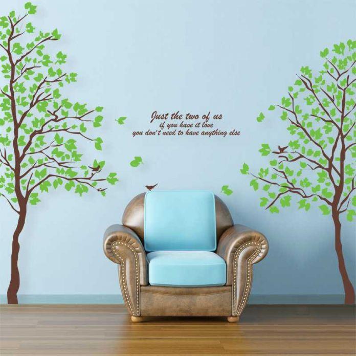 DIY большой размер зеленое дерево стены винила наклейки home decor гостиная спальня обои фрески генеалогическое дерево стены этикету