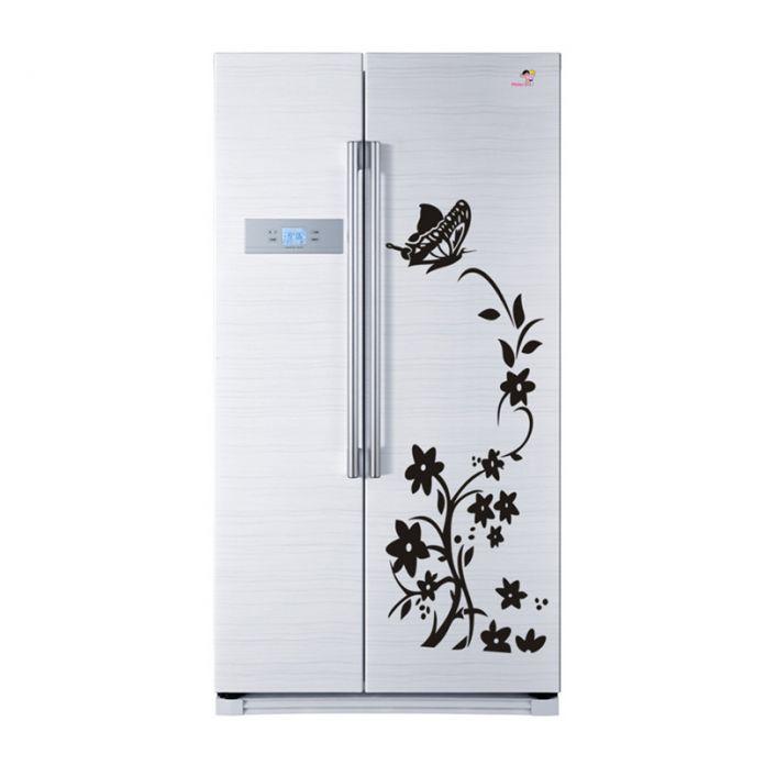 Новый ПВХ Съемный Цветок Ротанга Бабочки Дома Стены Наклейки Плакаты Холодильник Стиральная Машина Наклейка Современный Домашний Декор