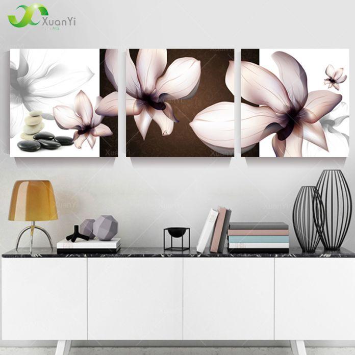 3 Панели Современные Печатные Цветок Орхидеи Картины Cuadros Холст Художественная Роспись Home Decor Для Гостиной Без Рамки PR099