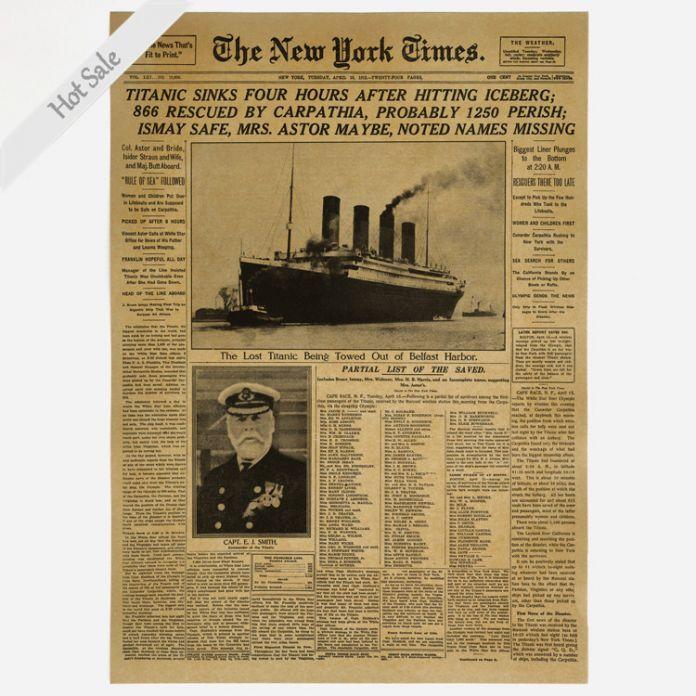 The New York Times Старый Газета плакат Урожай рисунок ретро живопись искусство стены наклейки гостиная декор 42x30 см ПОДАРОК ZJP-M180