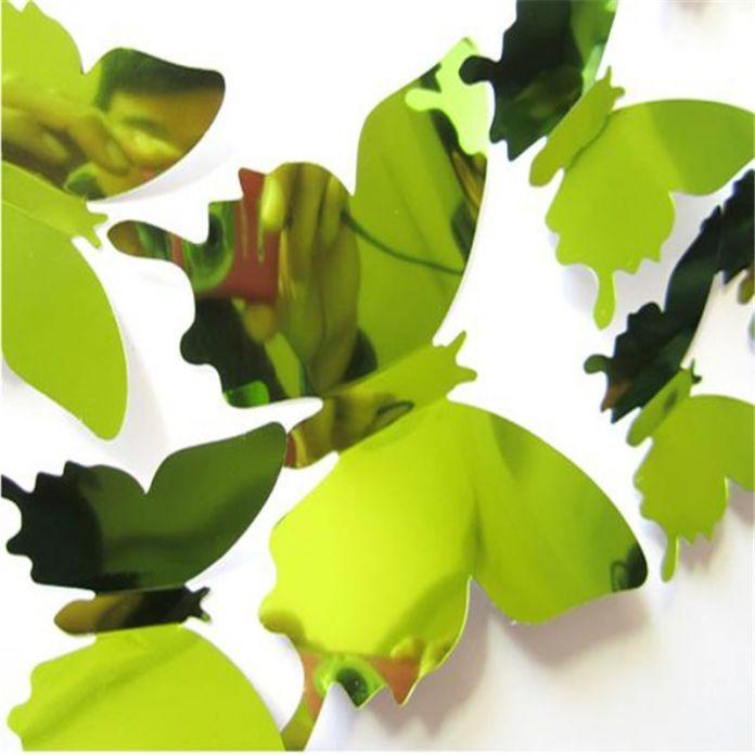 Стены Стикеры Наклейка Бабочки 3D Зеркало Стены Искусства Домашнего Декора Sep5
