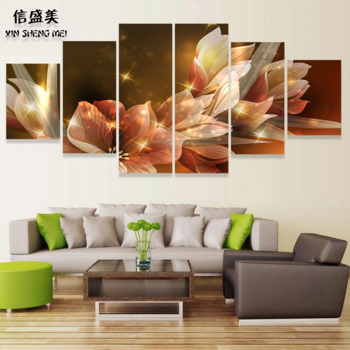 Товар 2015! Декоративное настенное панно для гостиной Cuadros с цветочным мотивом для украшения дома, печатный плакат (без рамки)
