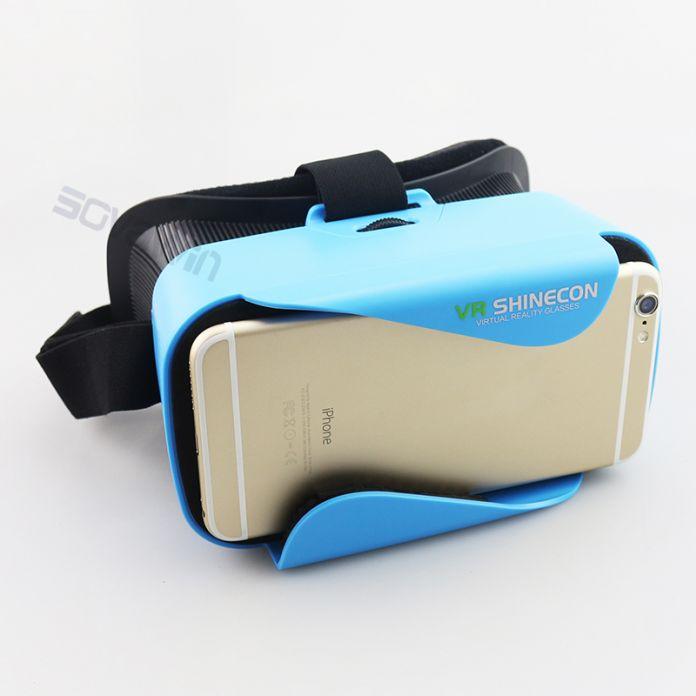 3D Гарнитуры Оригинальный VR Shinecon 3.0 Картон 360 Очки Виртуальной Реальности, Монтируемый в Головке vrbox Шлем для 4.5-6' Mobile телефон