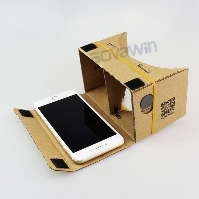 Магнит Управления Качеством Google Картон 1.0 VR КОРОБКА Гарнитура комплект DIY 3D MAX Очки Виртуальной Реальности Очки для 4-6 'Мобильный телефон