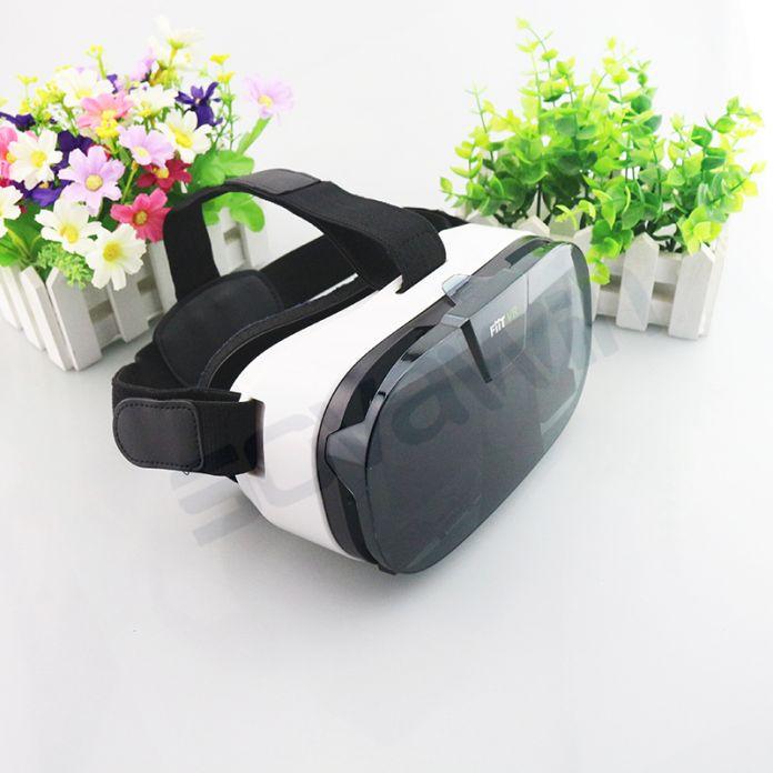 """3D VR Fiit 2N Очки Виртуальной Реальности Google Картон Гарнитуры VRBOX головы Шлем крепление Для 4-6 """"Телефон + Bluetooth Remote"""