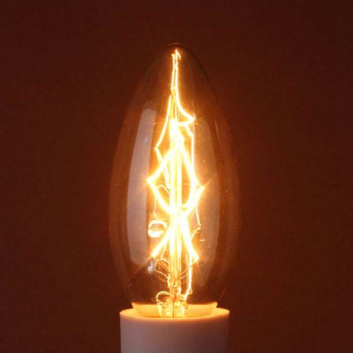 Горячие Продажи 40 Вт E14 Винтаж Античный Эдисон Свет Канделябра Свечу Накаливания Прозрачное Стекло Подвеска Лампа 110 В/220 В