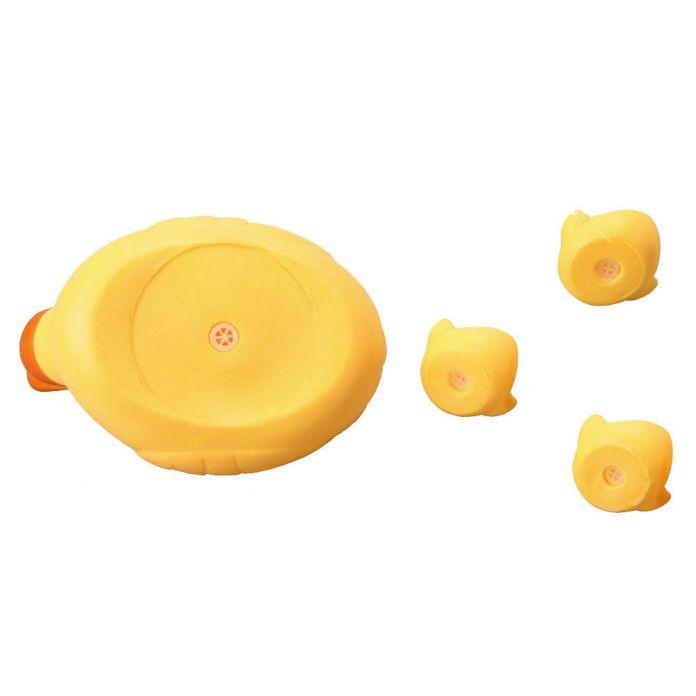 Горячая 4 шт./лот Игрушки Для Ванной Душ Воды Плавающий Скрипучий Желтых Резиновых Уток Детские Игрушки Воды Игрушки Brinquedos Для Ванной Комнаты