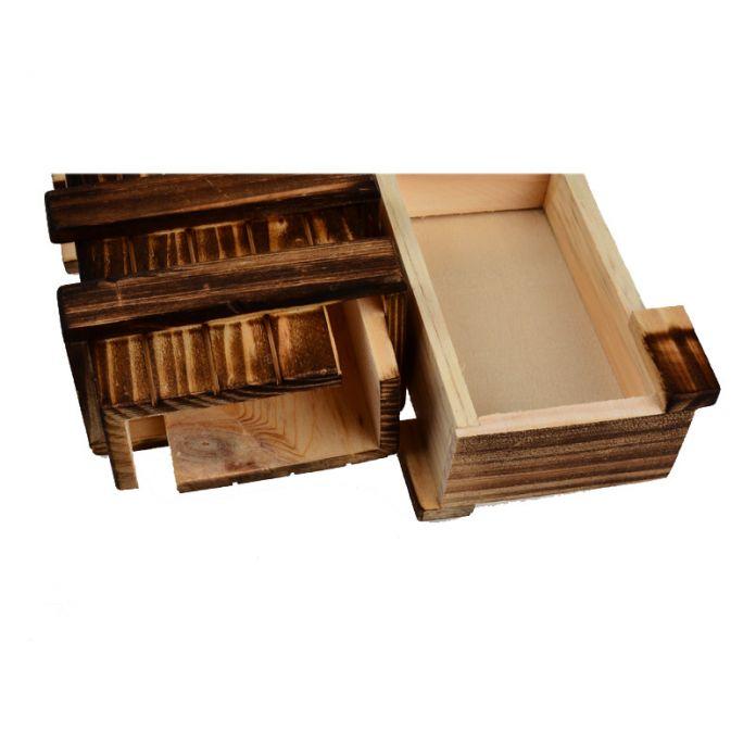 ОСГТ Античная Старинные Деревянные Хранения Скрытые Волшебный Подарок Коробка Головоломка Puzzle Box Грудь Игрушка
