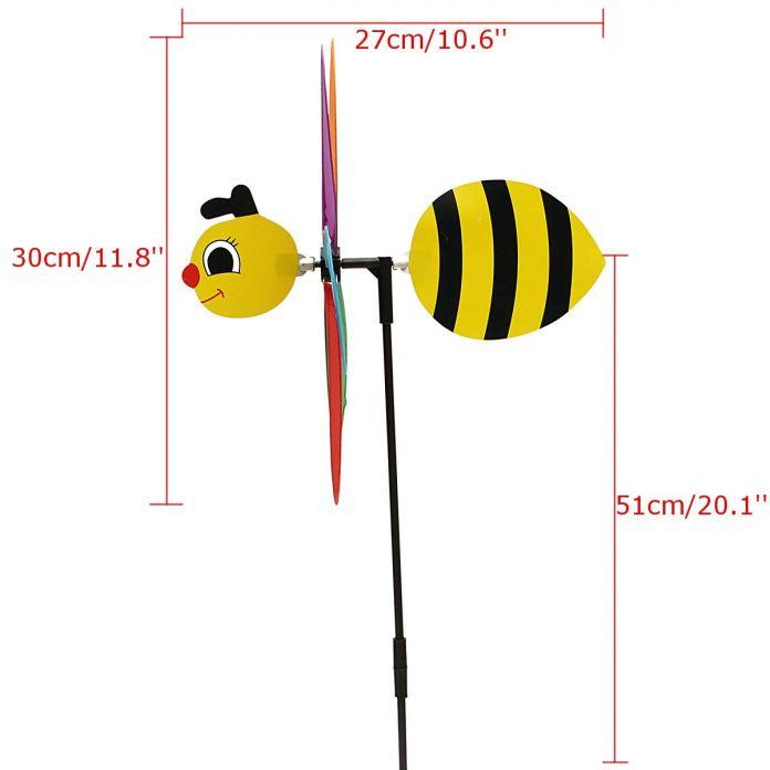 Животное Пчела Мельница Ветер Spinner Юла Открытый Детей Игрушки Brinquedos Двор Газон Кемпинг Украшения Гаджеты Ремесел