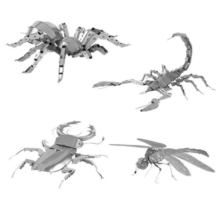 Палец Рок 3D Классическая DIY Металлические Насекомые Модель Строительство Комплекты Обучающие Пазлы Игрушки для Взрослых Подарок