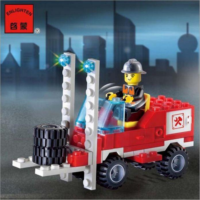Различные Комбинации! 130 шт./компл. Пожарный автомобиль DIY Building Blocks Образования Puzzle Игрушки Дети Подарки На День Рождения