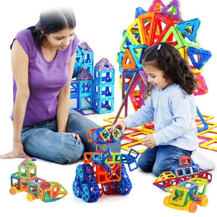 132 шт. Мини Модели и Строительство Магнитные Блоки Игрушка Набор Магнитный Конструктор Строительство Пластиковые Развивающие Игрушки Для Детей Подарок