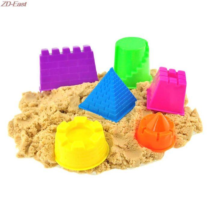 6 шт./компл. замок песка глины формы строительные пирамида сандкасл песчаный пляж игрушки детские ребенка малыш модель строительство комплекты