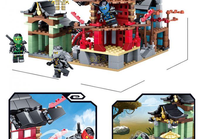 Ниндзя Храм Airjitzu Ninjagoes Уменьшенная Версия Bozhi 737 шт. Блоки Набор Совместим с Лего Игрушки для Детей Строительного Кирпича
