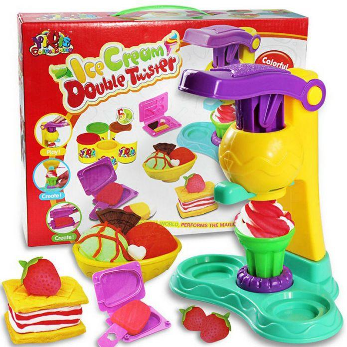 Детский Мягкий Монтессори Цветной Глины пластилин мороженое Игрушка Набор 5 цветов Высокая Доставленных Подарок Для Ребенка и Детей