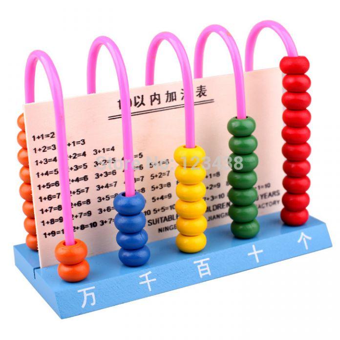 ОСГТ Детские Развивающие Деревянные Счеты Детские Подсчет Номер Кадра Расчет Счетчик Калькулятор Математике Подсчета Игрушки