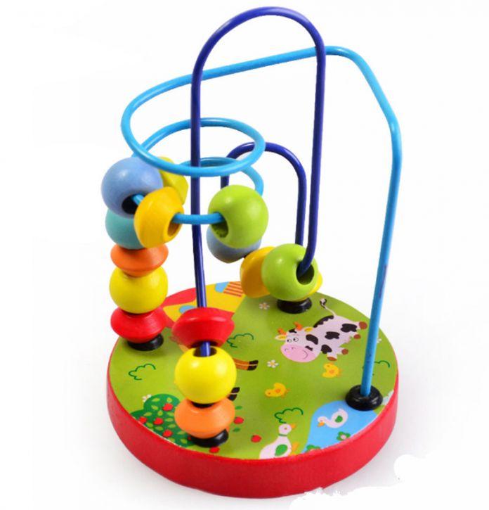 Раннее Детство Обучения Образование Игрушка Дети Красочные Детские Деревянные Игрушки Мини Вокруг Бусы Развивающие Игрушки для Детей Игрушки