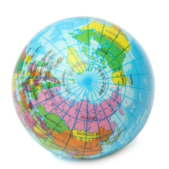 Планета Карта Мира Пена Глобус земля Стресс Помощи Пресс-Шар География Игрушка Стресс Помощи Надувной Мяч Дети Взрослые Игрушки Шары